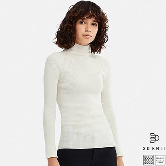 10c010745fa Uniqlo U 3D extra fine merino ribbed sweater